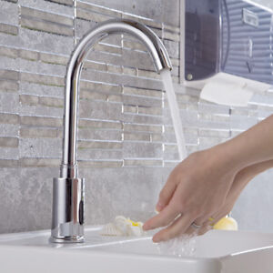 Swivel-Bathroom-Automatic-Sensor-Faucet-Hands-Free-Basin-Cold-Water-Brass-Taps
