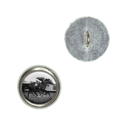 At the Track Craft Sewing Novelty Buttons Set of 4 Horse Racing Vintage