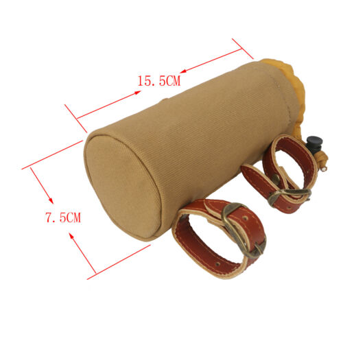 Tourbon Canvas/&Leather Bicycle Water Bottle Bag Bicycle Accessories Phone Pouch