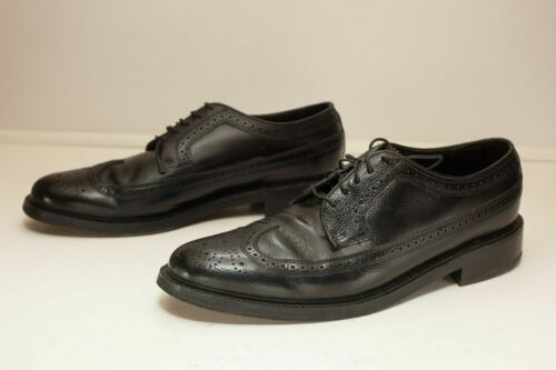 Florsheim 9 C Black Wingtip Dress Shoes