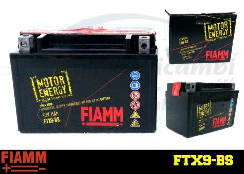 37KW 50CV 4BR, 4LX BATTERIA MOTO FIAMM FTX9-BS 12V YAMAHA XJ 600 N