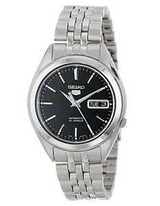 Seiko 5 Snkl23 Automatic Day Date Black Dial Stainless Steel Mens