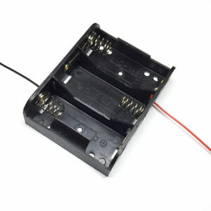 1 Pcs 3 x  1.5V C Size Battery Holder Case DC Box With Wire Lead