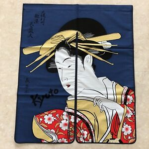 F-S-Noren-Japanese-Door-Curtain-Tapestry-Ukiyoe-Daikaku-Tayu-Cotton-100-Kyoto