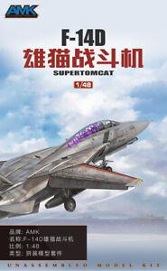 AMK-OTHER-88007-1-48-SCALE-MODEL-F-14D-SUPER-TOMCAT-Fighter-PLANE-MODEL-2019-NEW
