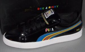 d9afde6ed9b05 Details about MENS PUMA BASKET X DEE & RICKEY BW in colors BLACK SIZE 12
