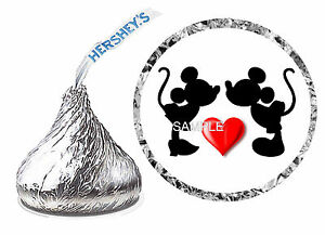 216 MICKEY AND MINNIE MOUSE WEDDING FAVORS HERSHEY KISS LABELS | eBay
