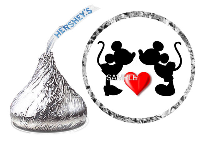 216 Mickey And Minnie Mouse Wedding Favors Hershey Kiss Labels