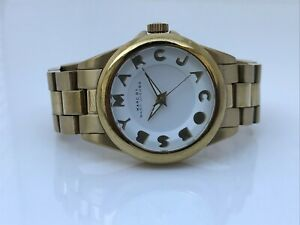 Marc by Marc Jacobs Women Watch Gold Tone Analog Wrist Watch Water Resistant 50M