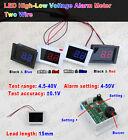 DC4.5-40V Digital LED Voltmeter High-Low Voltage Alarm Tester 5v 12v 24v 36v Car