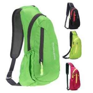 Outdoor man Waterproof Nylon Chest Shoulder Bag Sport Running Messenger Backpack