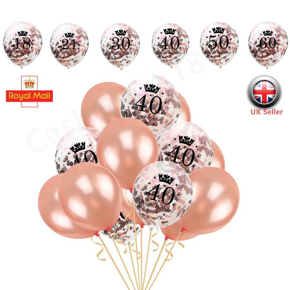 A Roll Of Rose Gold Colored Strips 10PCS LatexConfetti Balloons