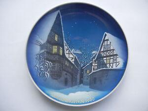 Rosenthal-Christmas-Plate-1960-Adventszweig-Meine-Artkel-Nr-1960-1