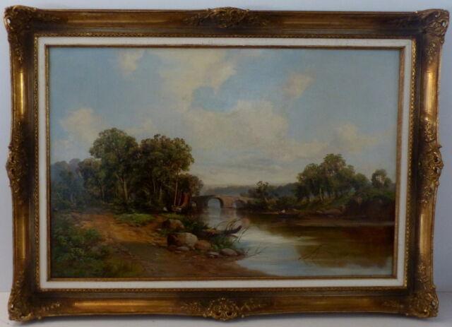 Robert Winchester Fraser, 1848-1906, Öl auf Leinwand, Landschaftsgemälde