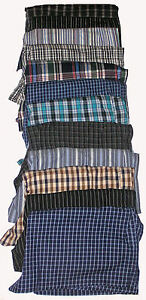 4-NEW-SIZE-S-MENS-COTTON-CHECK-LOOSE-FITTING-BOXER-SHORTS