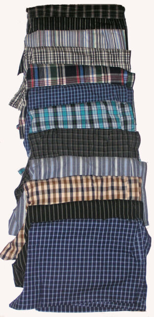 4 NEW SIZE XXL MENS COTTON CHECK LOOSE FITTING BOXER SHORTS