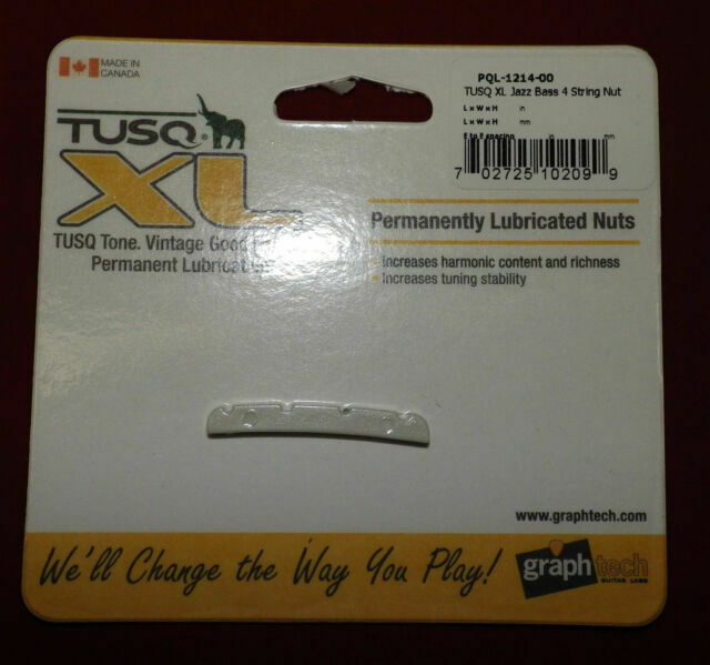Slotted graphtech Graph Tech Tusq Nut for Jazz Bass