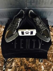 1a9d36dc81b Puma Fenty by Rihanna Pointy Creeper Patent Black 366270-01 Women s ...