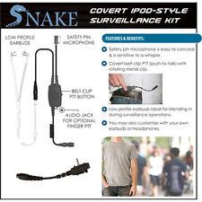 QR Covert SNAKE Ipod-Style Headset for Vertex VX Series 2-Way Radios (See List)