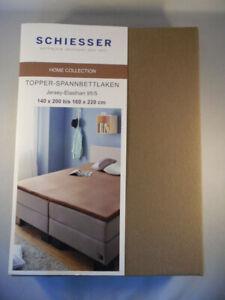 Geteilte Split Topper Spannbettlaken Boxspring Jersey 140-160-180-200 x 200//220