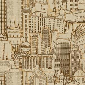 Wallpaper-Brown-Gold-and-Tan-Graphic-Cityscape-Skyscraper-Skyline-Buildings