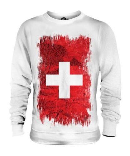 Suisse Drapeau Grunge Unisexe Pull Schweiz Svizzera Suisse Swiss Svizra