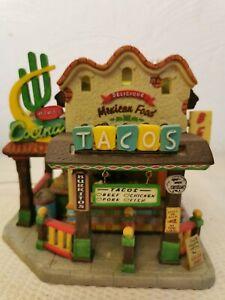 Lemax-Mama-039-s-Cocina-75527-Decor-illumine-Marchand-de-Tacos-In-Box