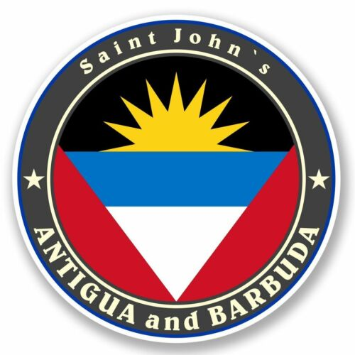 2 x Antigua and Barbuda Vinyl Sticker Laptop Travel Luggage Car #5038