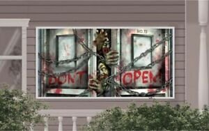 Halloween-Party-Haunted-Zombies-Do-Not-Open-Wall-Banner-Scene-Decoration