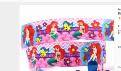 New Little Mermaid ribbon for cake decorating or scrapbooking 1m 9mm wide