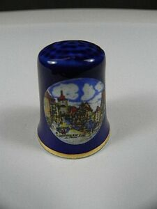 Fingerhut-Rothenburg-o-d-Tauber-in-Box-aus-Porzellan-Collector-Thimble-Germany