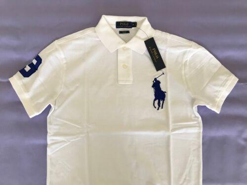 NWT RALPH LAUREN Slim Fit 100/% Cotton Polo Shirt S//S Mens Sizes Medium Large