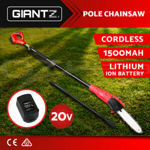 Giantz Pole Chainsaw 20V Lithium-Ion Tool Cordless Battery Electric Saw Pruner