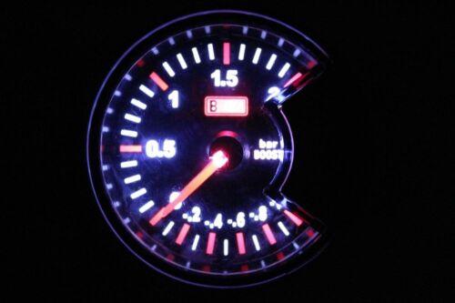 "2.34/"" Barres 60 mm Turbo Boost Vacuum Gauge Voiture Lumière Blanc DEL Cadran LED7707"