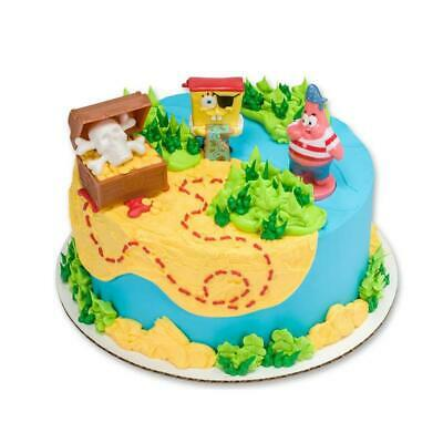 Phenomenal Spongebob Squarepants Birthday Pirate Treasure Hunt Themed Cake Funny Birthday Cards Online Fluifree Goldxyz