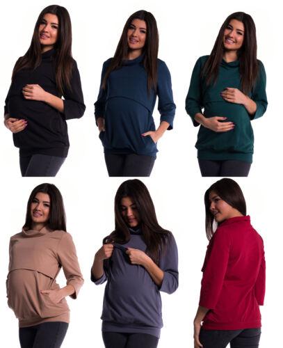 NEU 3in1 Stillshirt Still Bluse Tunika Umstandstunika M L XL Umstandsshirt