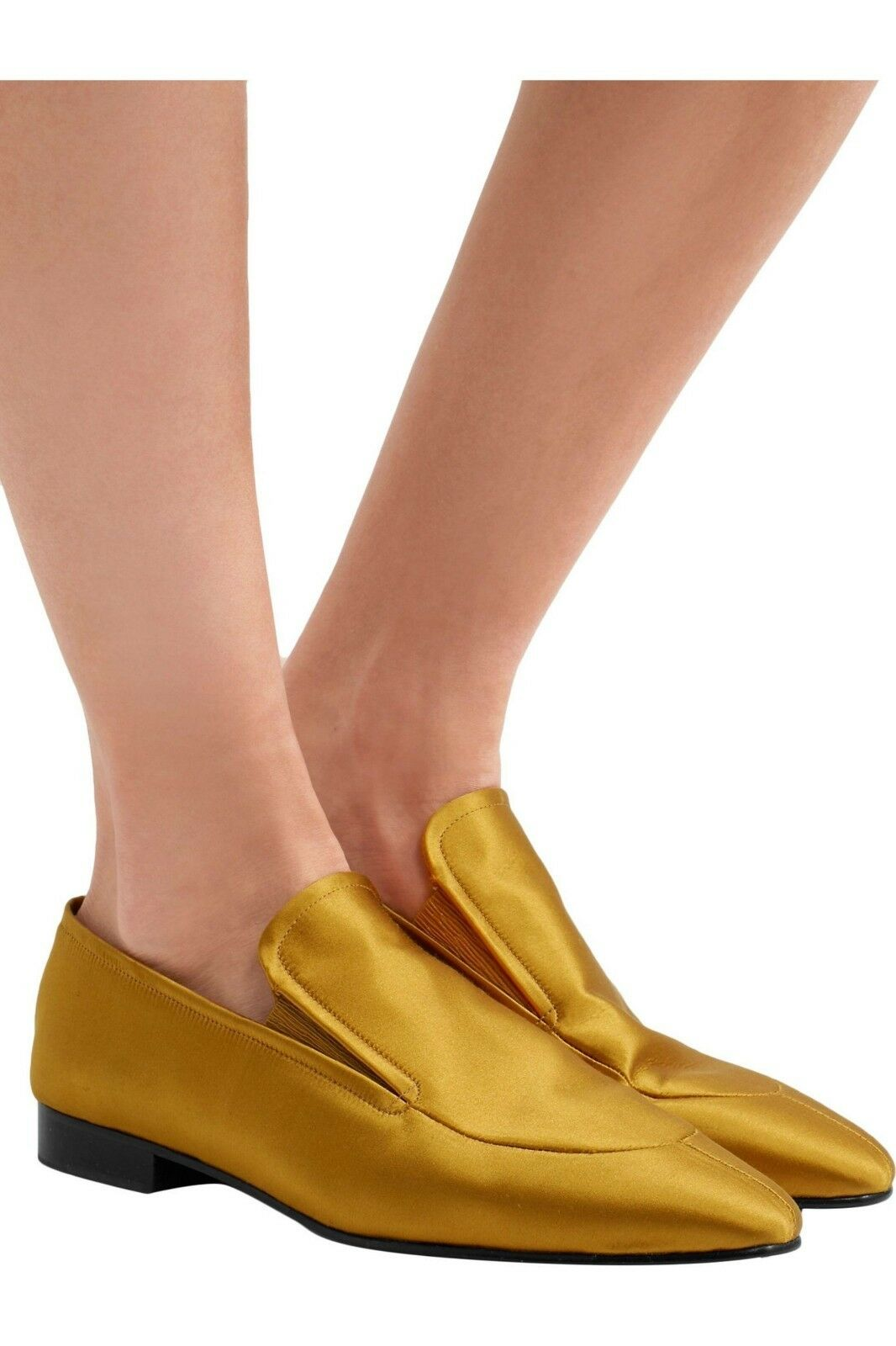 Nuevo  530 Caléndula Josephs para Mujer satinado anthropologie Caléndula 530 Mocasines Zapatos Talla 39 9 Italia 6d1f9e