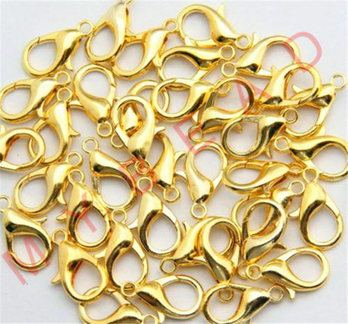 12mm Wholesale 100pcs Jewelry Loose Lobster Clip Clasp Claw Clasps Hooks 10mm