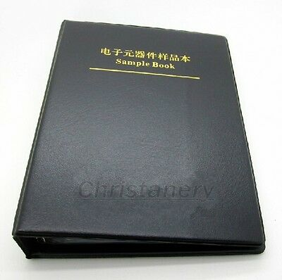 Empty Sample Book Organizer For SMT SMD Resistor Capacitor Assortment Components