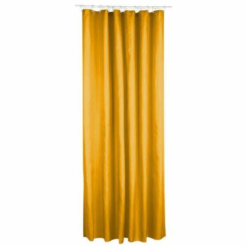 mustard Polyester shower curtain 180 x 200 cm