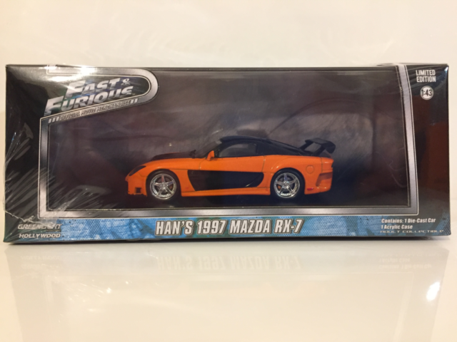 Fast and Furious Hans Mazda RX-7 Tokyo Drift 1:43 Scale Greenlight 86212