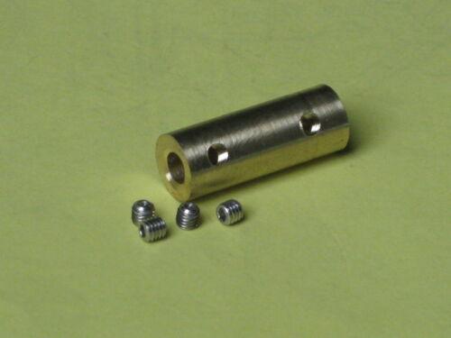 Wellenkupplung Gestängeverbinder Kupplung 4,0 x5,0 mm MB 2599-19