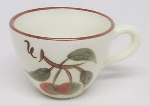 Hand painted superbly crafted High quality  workmanship Stengl Orchard Song Cup /& Saucer set Autumn colors rust