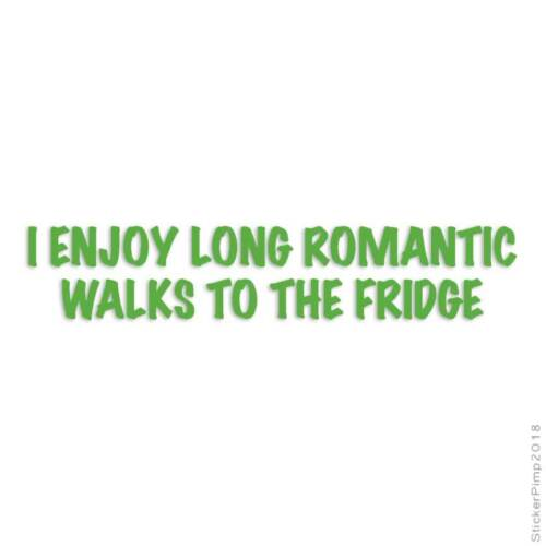 Size #3611 Romantic Walks To Fridge Decal Sticker Choose Color