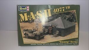 Vintage-Revell-M-A-S-H-4077-1-35-Scale-Swamp-Scene-Rare-Complete