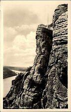 Sächs. Schweiz 50er Jahre AK DDR Aussicht Bastei Felsen Verlag Albert Krebs