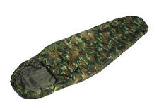 US Army Style COMMANDO SLEEPING BAG Woodland Camo Camouflage Lightweight Camping