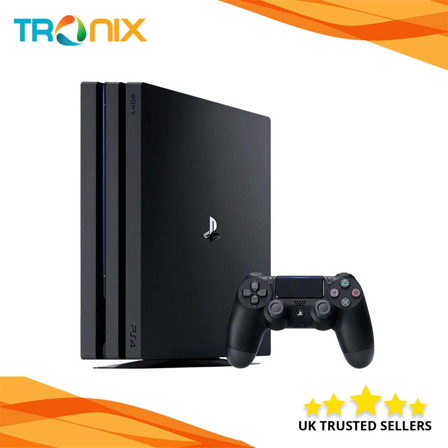 sony playstation ps4 pro 1tb 4k console in black. Black Bedroom Furniture Sets. Home Design Ideas