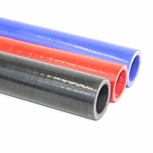Azul Y Rojo Manguera De Silicona Recta Auto disponible en Negro