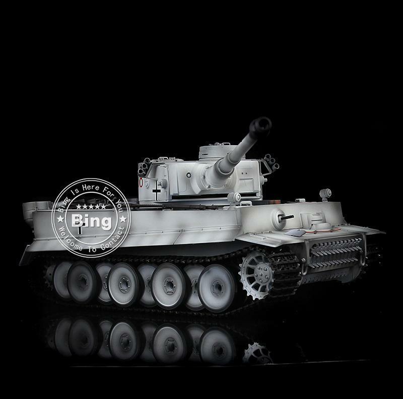 6.0 Tiger RTR RC Tanque 3818 henglong I 1 16 Nieve Metal pista rueda barril retroceso